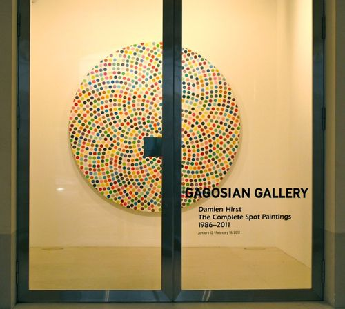 Hirst Gagosian spot painting 3303