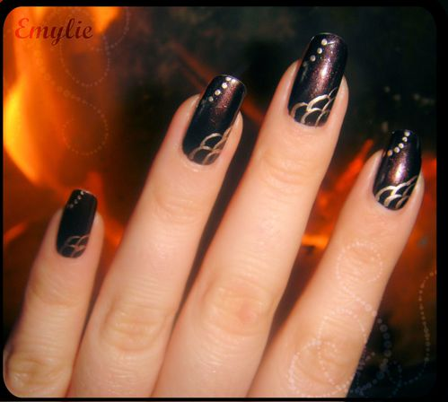 nail art Brown