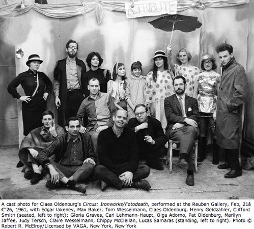 Oldenburg Claes 1961 cast photo for Circus. Ironworks.Photo