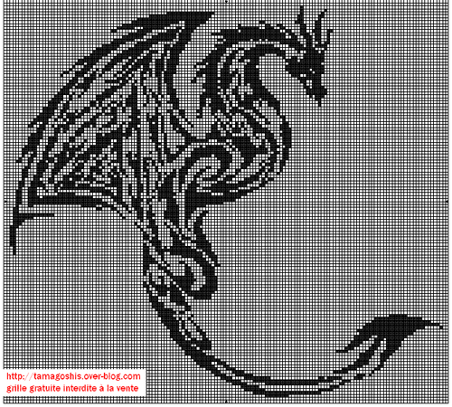 grille dragon tribal