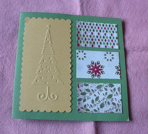 1 carte avec sapin