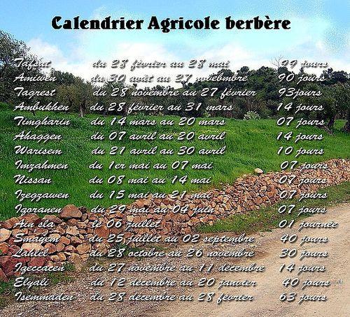 Calendrier agricole Amazigh