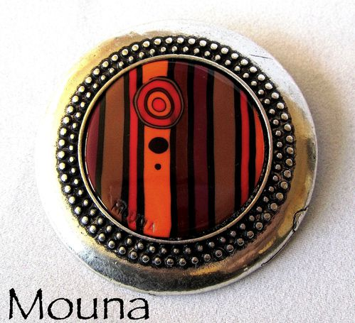Broche L'orange rouge 1 DISPONIBLE: 16 euros.