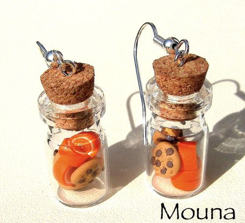 Boucles fioles cookies/orange 1 DISPONIBLE: 12 euros.