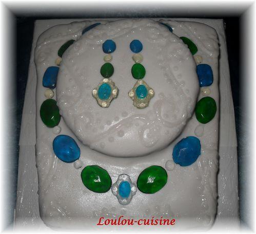 gâteau pierres précieuses