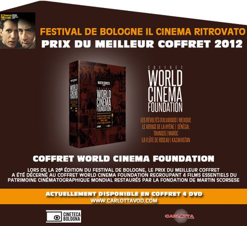 Festival Il Cinema Ritrovato : le coffret World Cinema Foundation récompensé !
