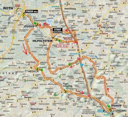 parcours velo roth