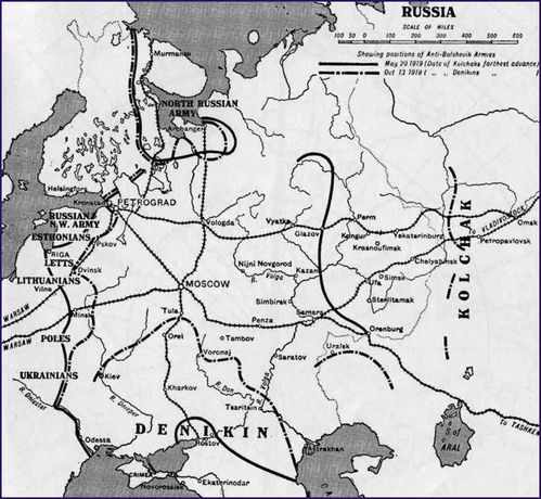 map russian civil war