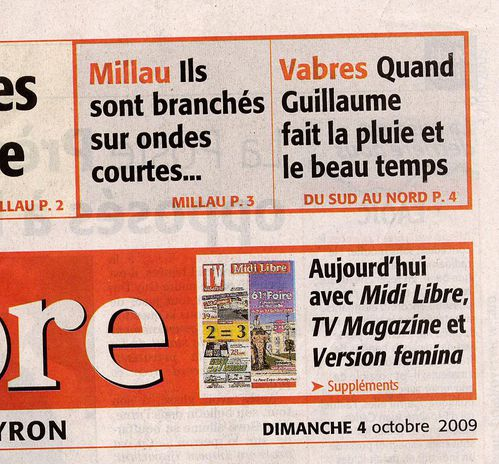 4oct 2009 1ere page