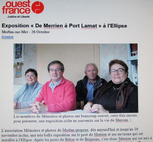 002r Ouest-Fr 26-11-14 Expo Mémoire&Photos