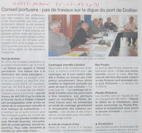 052r Ouest-France 25-03-13p9 Digue Doëlan
