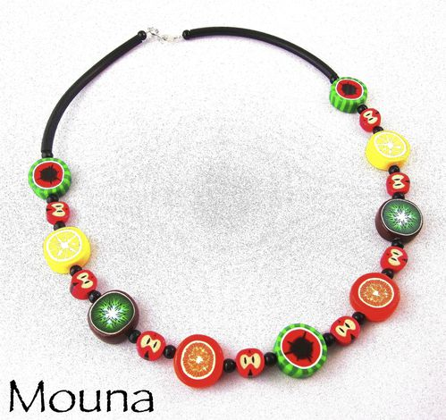 Collier Salade de fruits 2 DISPONIBLE: 23 euros.