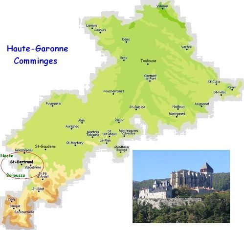 Carte situant St-bertrand de comminges-1