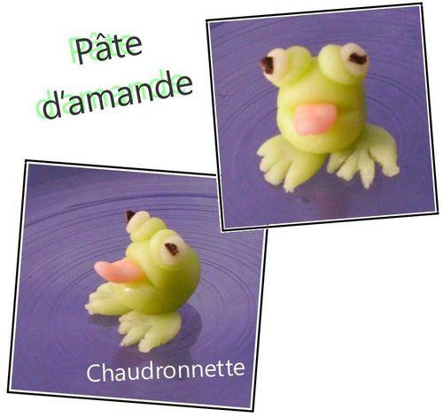 grenouille en p 226 te d amande les petites recettes de chaudronnette