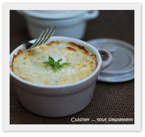 gratin de blé aux fromages et au jambon1