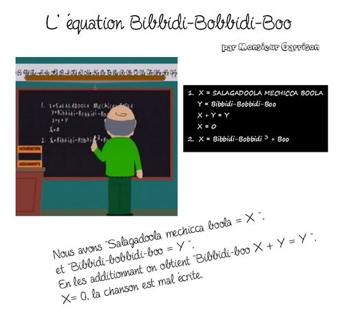 Equation Bibbidi-bobbidi-boo