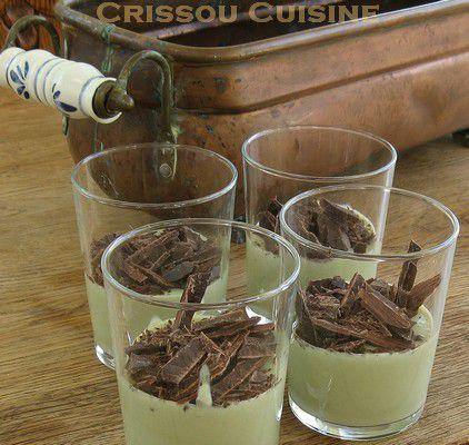 mousse thé matcha tofu soyeux et chocolat