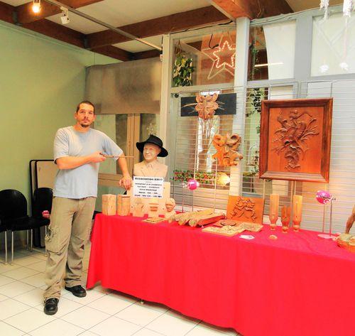 Salon artisanat d 39 art sculpture sur bois lagougedesbois for Salon artisanat a ballancourt sur essonne