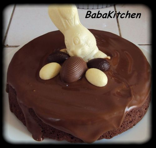 gateau amandes et chocolat pour p ques baba 39 s kitchen. Black Bedroom Furniture Sets. Home Design Ideas
