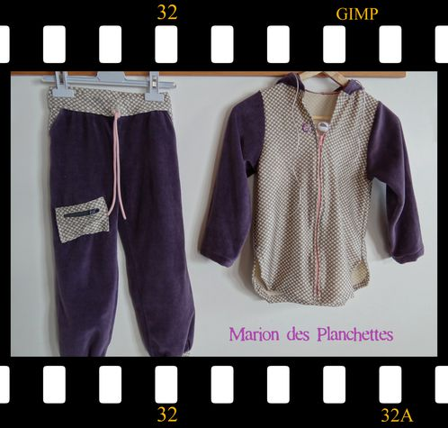 ensemble sport Juju velours violet beige fv2013 (4)