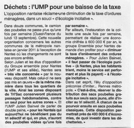 Ouest France 14-09-10