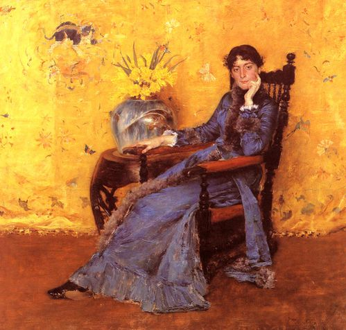William Merritt Chase (1849-1916) Miss dora