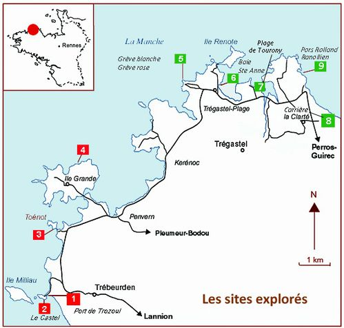 Carte Sites géologiques Ploumanac'h - Copie copie-copie-1