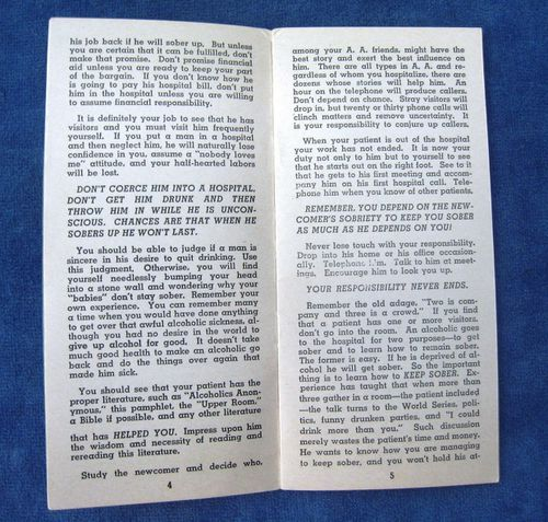HISTOIRE 174c manual for alcoholics anonymous