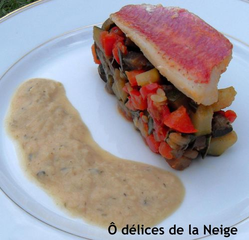 filet de rouget et ratatouille