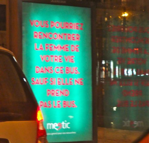affiche meetic bus