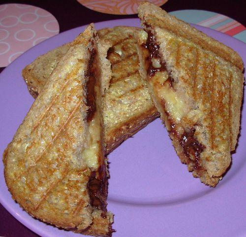 Croques banane-graines de courge chocolatées4
