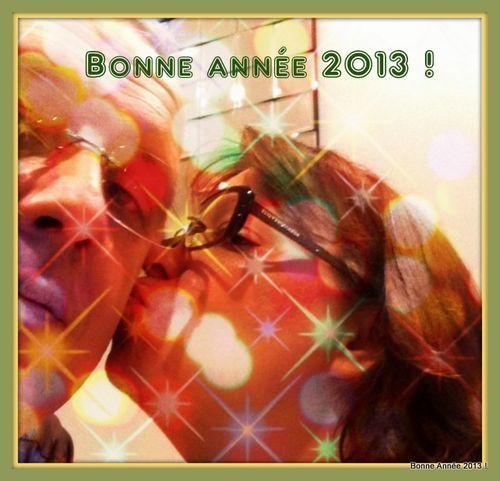Bonne année 2013 Bisou