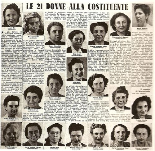 1946 donne alla Costituente