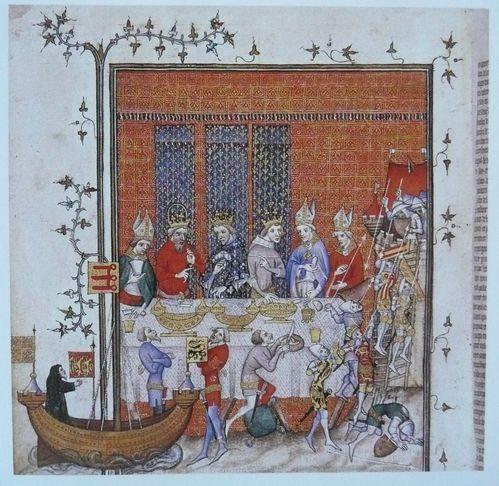 Grandes Chroniques de France L'empereur Charles IV et le ro