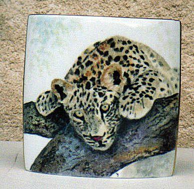 vase bébé léopard
