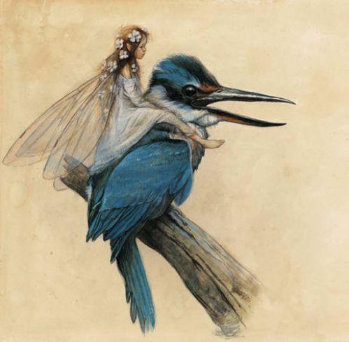 fée et oiseau