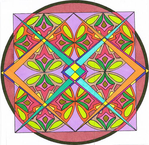 dessin mandala forme et g om trie couleur au feutre enfant et adulte la d co de valex. Black Bedroom Furniture Sets. Home Design Ideas