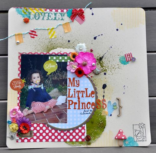 Page de scrap fleurie : My Little Princess