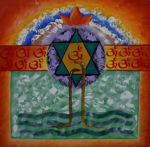 Siva Ganga Painting .....Acrylic on canvas .....artist raje