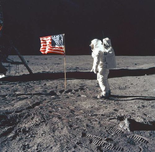 Neil Armstrong on the moon Inkblood