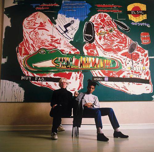 Basquiat Warhol 1985 photo Tseng Kwong Chi