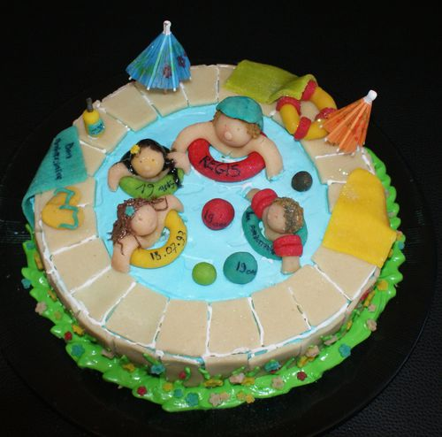 gateau piscine