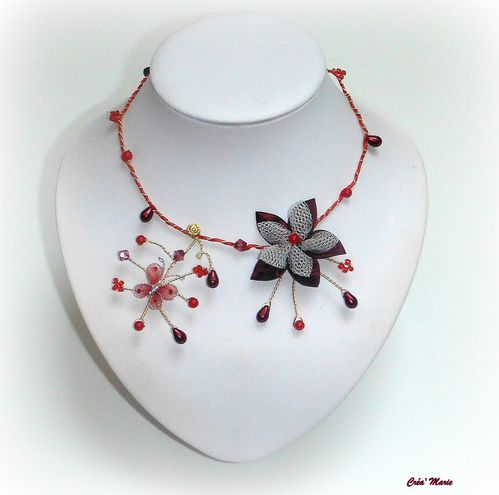 Rouge Papillon Bordeaux Collier Cérémonie Floralamp; Le Co370 Blog PkXZuiOT