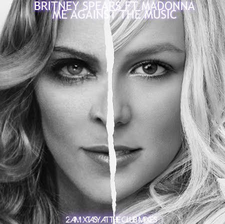 Britney Spears Ft Madonna - Me Against The Music (Single Co