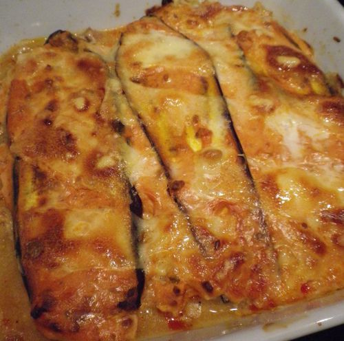 gratin d 39 aubergine thon cr me ricotta tomate 5 mincir. Black Bedroom Furniture Sets. Home Design Ideas