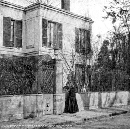 La maison de Catulle-Mendes 3 rue de Sully à Saint-Germain-en-Laye
