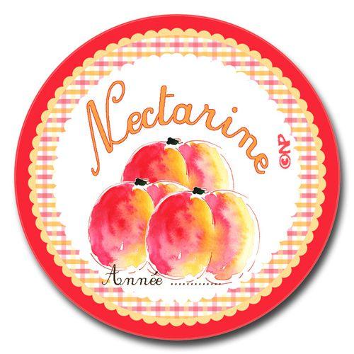 étiquette ronde confiture nectarine à imprimer gratuitemn