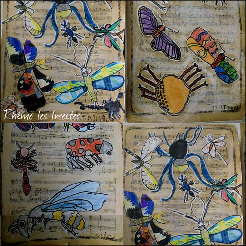 collage insectes