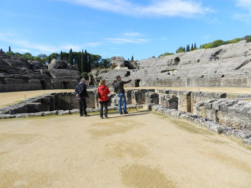 Site romain de Italica et Cordoue avec mes parents