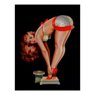 retro fille de pin up vintage de peter driben sur poster-r8